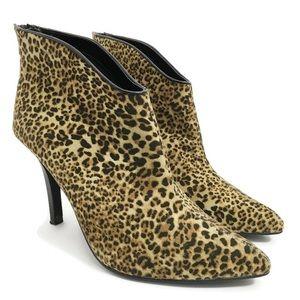 Carlos Santana Leopard Heel Booties SZ0322